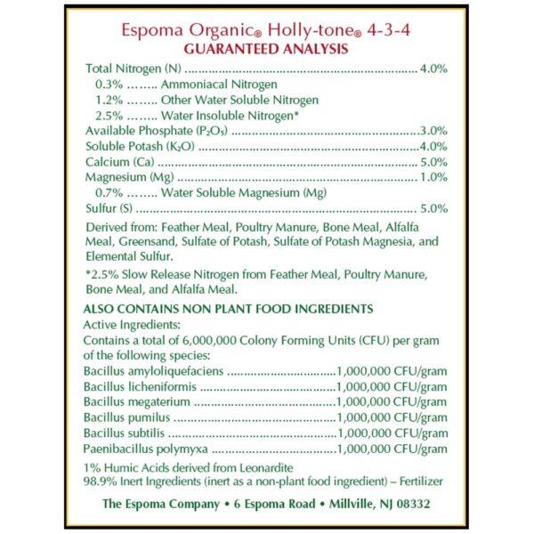Holly Tone Organic Fertilizer for Acid Loving Plants Espoma