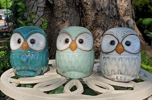 Owl Ceramic Statue