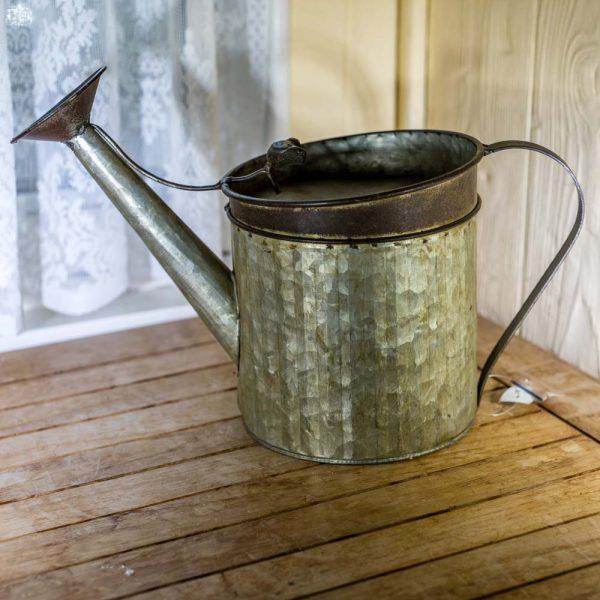Birdhouse Galvanized Watering Can