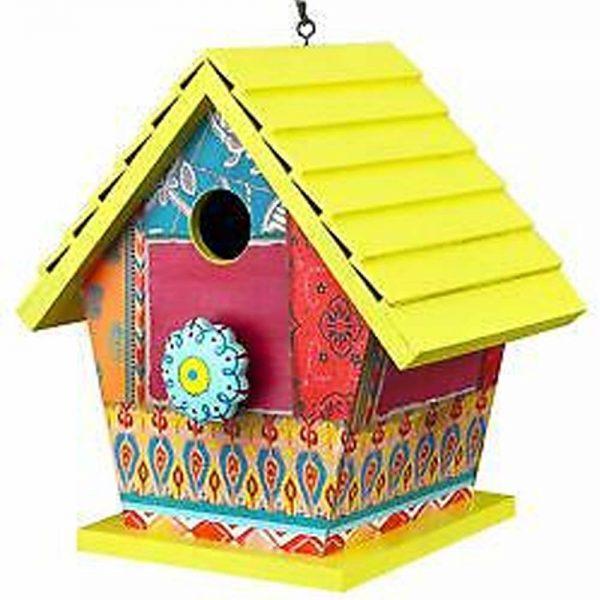 Birdhouse Yellow Patchwork 2