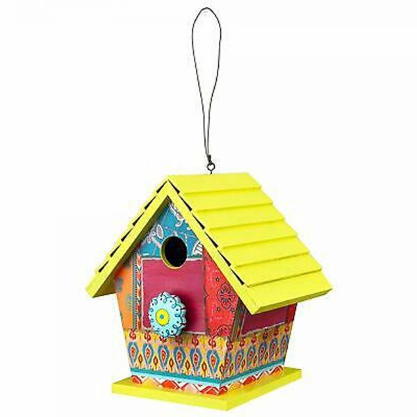 Birdhouse Yellow Patchwork
