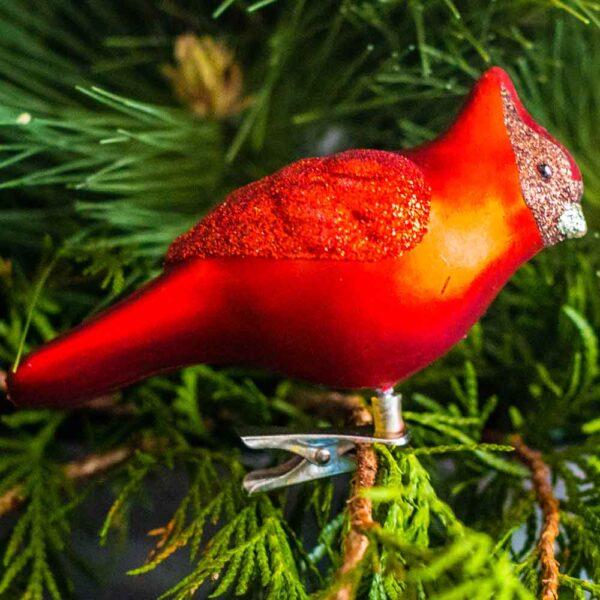 Cardinal Clip On Ornament