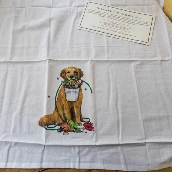 Flour Sack Kitchen Towel Golden Retriever