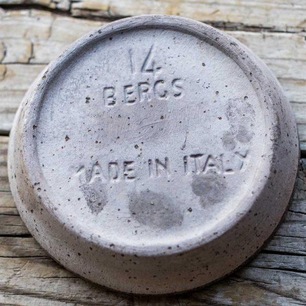 Italian Pottery Gray Terra Cotta Saucer