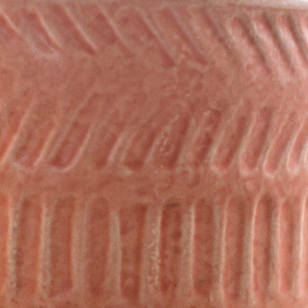 Pot Lines Planter Matte Coral