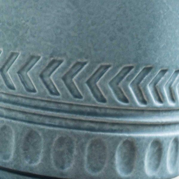 Pot Lines and Arrows Planter Matte Blue-Gray