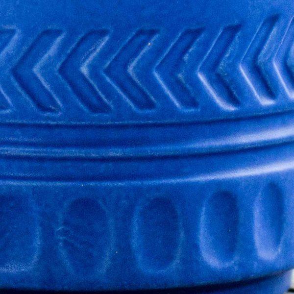 Pot Lines and Arrows Planter Matte Blue