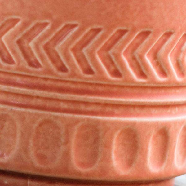 Pot Lines and Arrows Planter Matte Coral