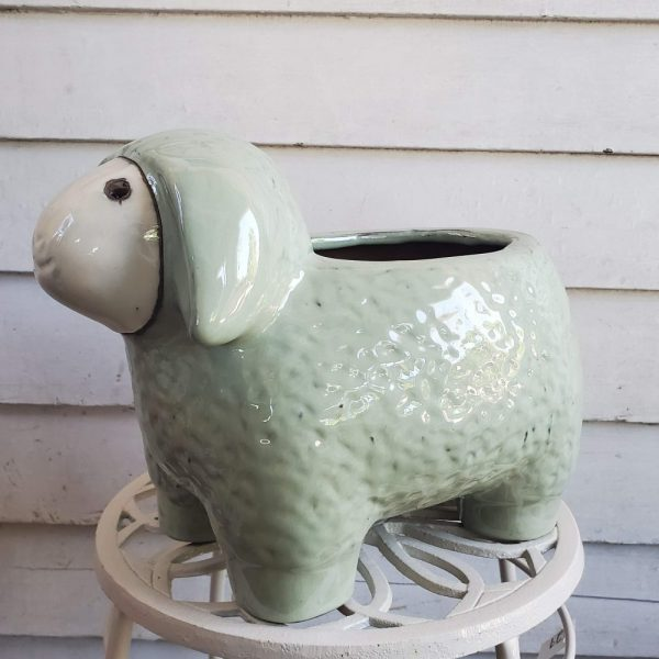 Sheep Pot Green Ceramic