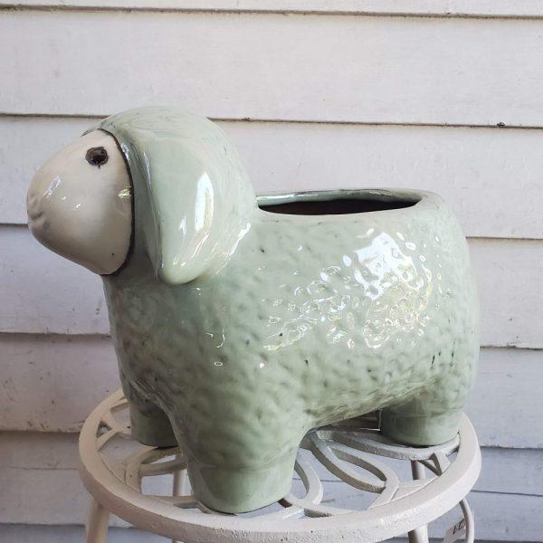 Sheep Pot Green Ceramic