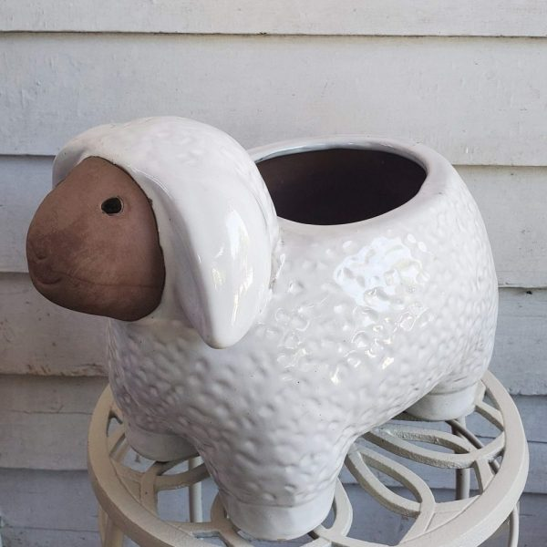 Sheep Pot White Ceramic