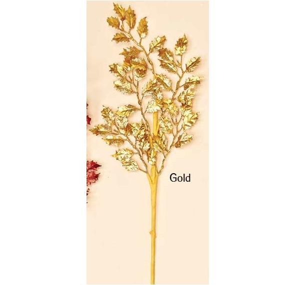 Holly Spray - Gold