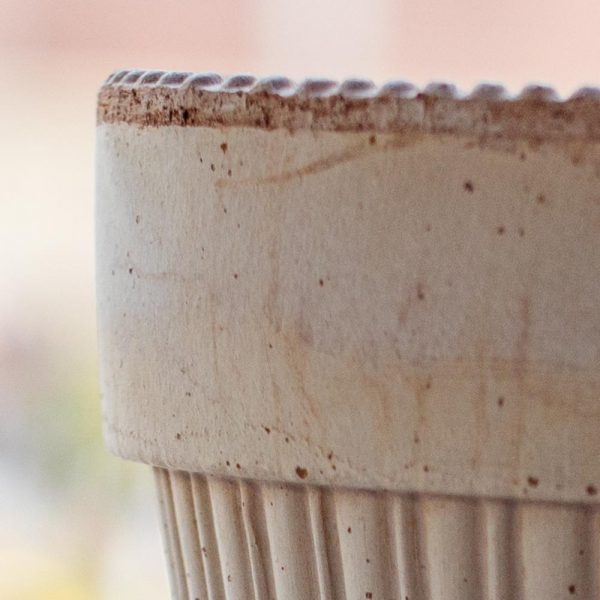 Italian Pottery Terra Cotta Pot with Fluted Body