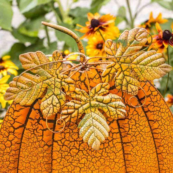 Pumpkin Garden Stake Elegant Tall On Two Poles