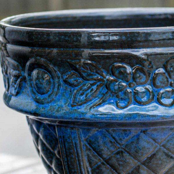 Roman Pot Blue 10 Inches High x 12 Inches Deep