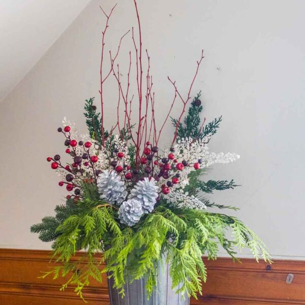 Faux Evergreen Spray – Juniper