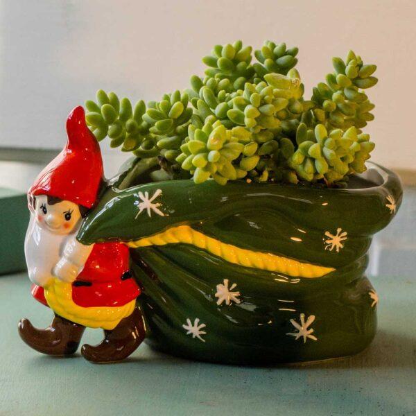 Gnome with Bag Planter