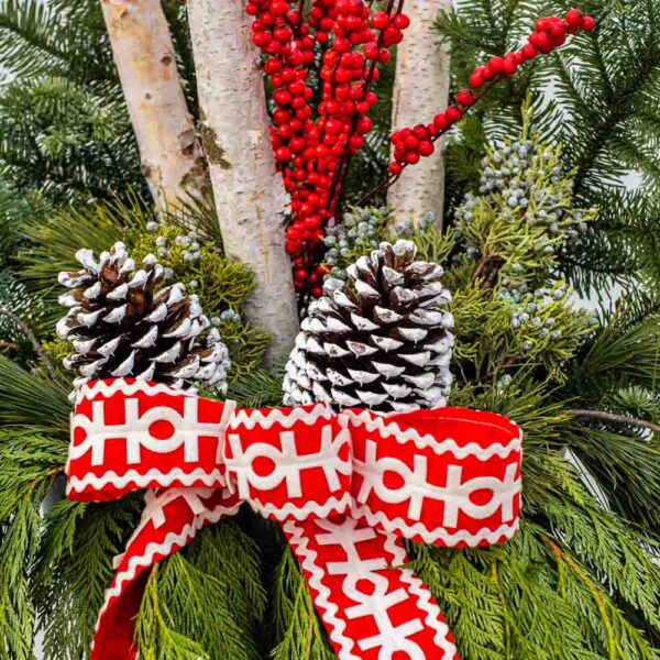 Fresh Cut Evergreen Mixed Container – Holiday Cheer