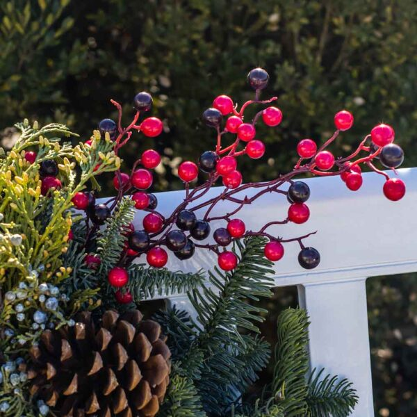 Faux Small Berries in Wreath