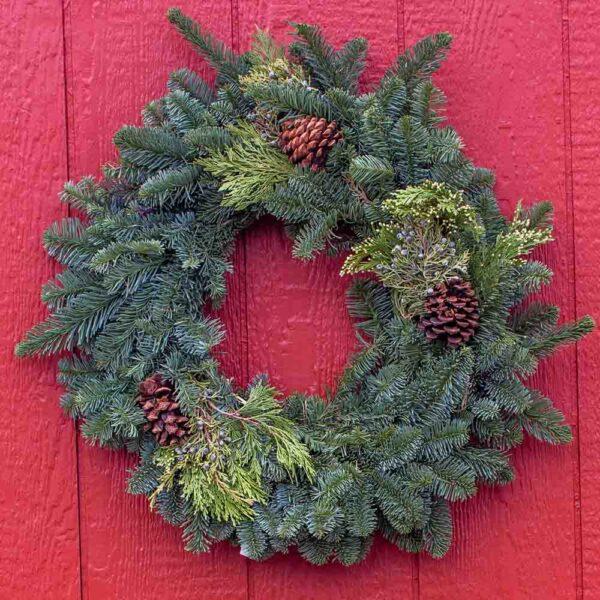 Fresh cut Evergreen Wreath Small
