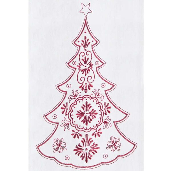 Towel Embroidered Nodic Tree