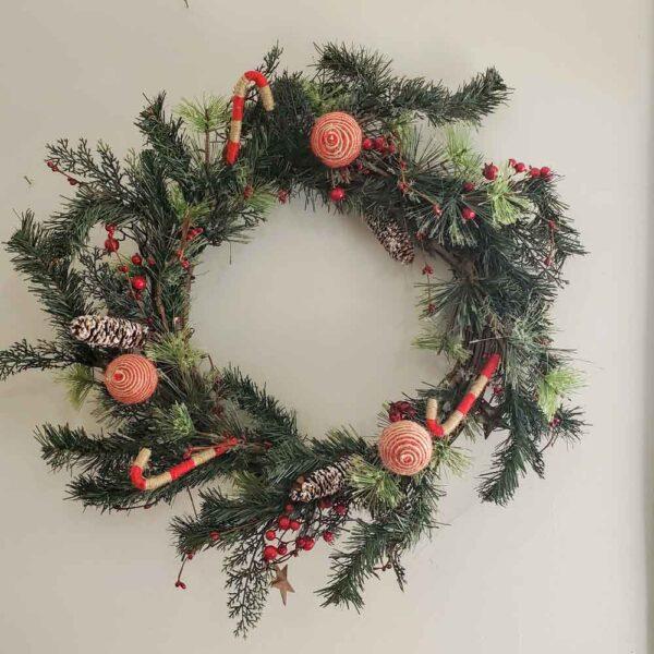 Wreath Yarn Ornaments