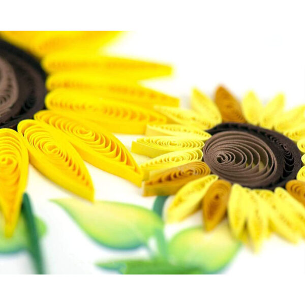 Card Quilled Sunflower