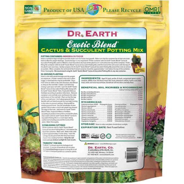 Soil – Dr. Earth Cactus and Succulent Potting Mix 6 Qt